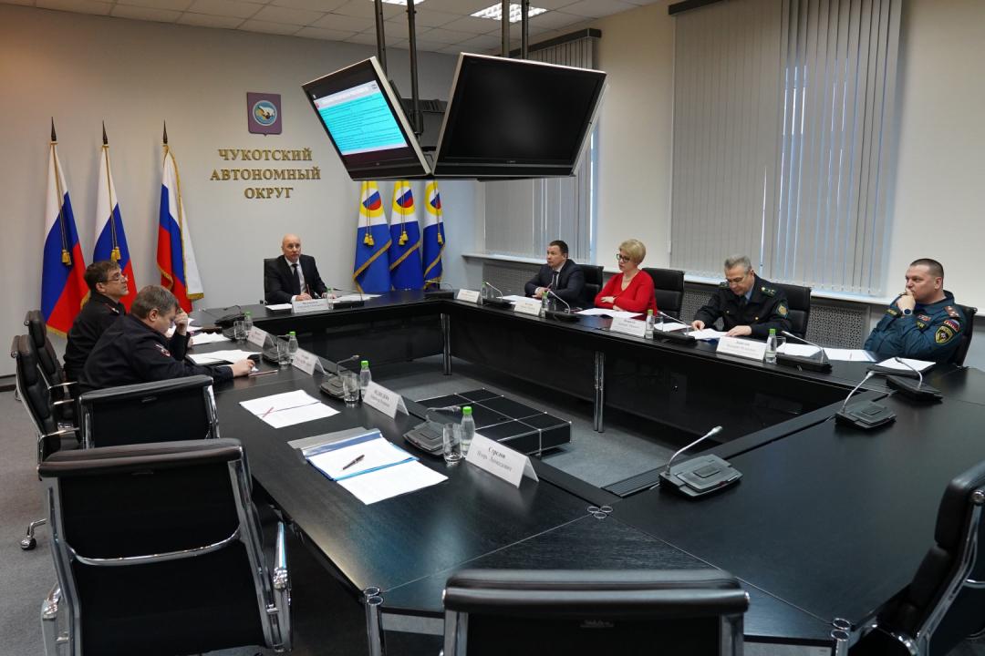Прошло заседание антитеррористической комиссии в Чукотском автономном округе
