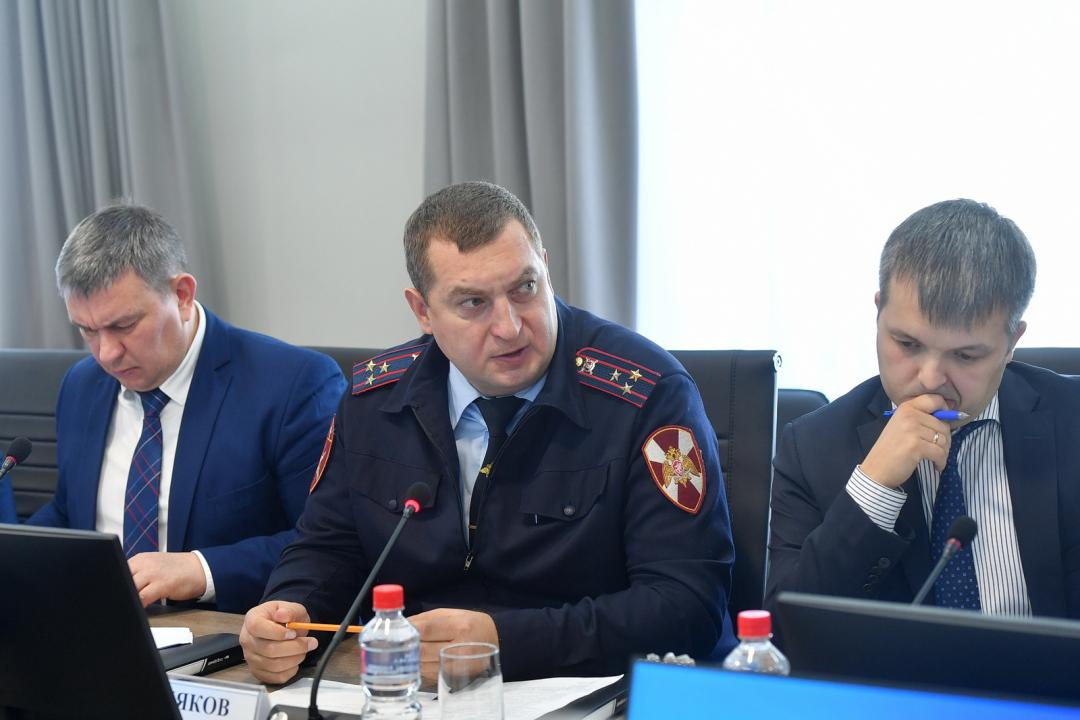 Участники заседания Антитеррористической комиссии в Удмуртской Республике
