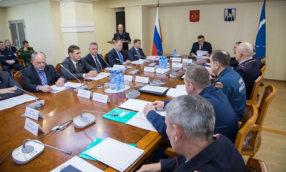 Прошло  совместное заседание антитеррористической комиссии и оперативного штаба в Сахалинской области