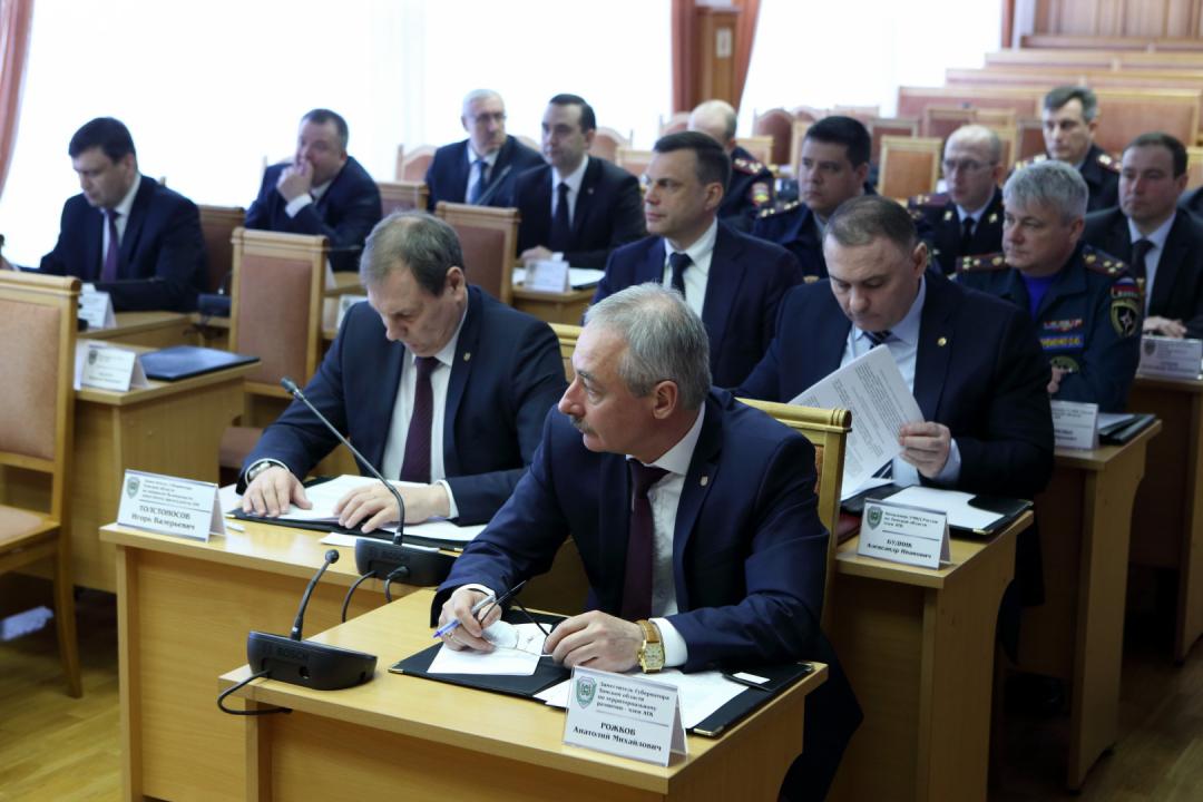 Губернатор Томской области Сергей Жвачкин провел заседание региональной антитеррористической комиссии