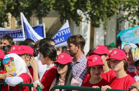 Активисты молодежного движения принимают участие в республиканской акции, приуроченной ко Дню солидарности в борьбе с терроризмом. 03.09.2018