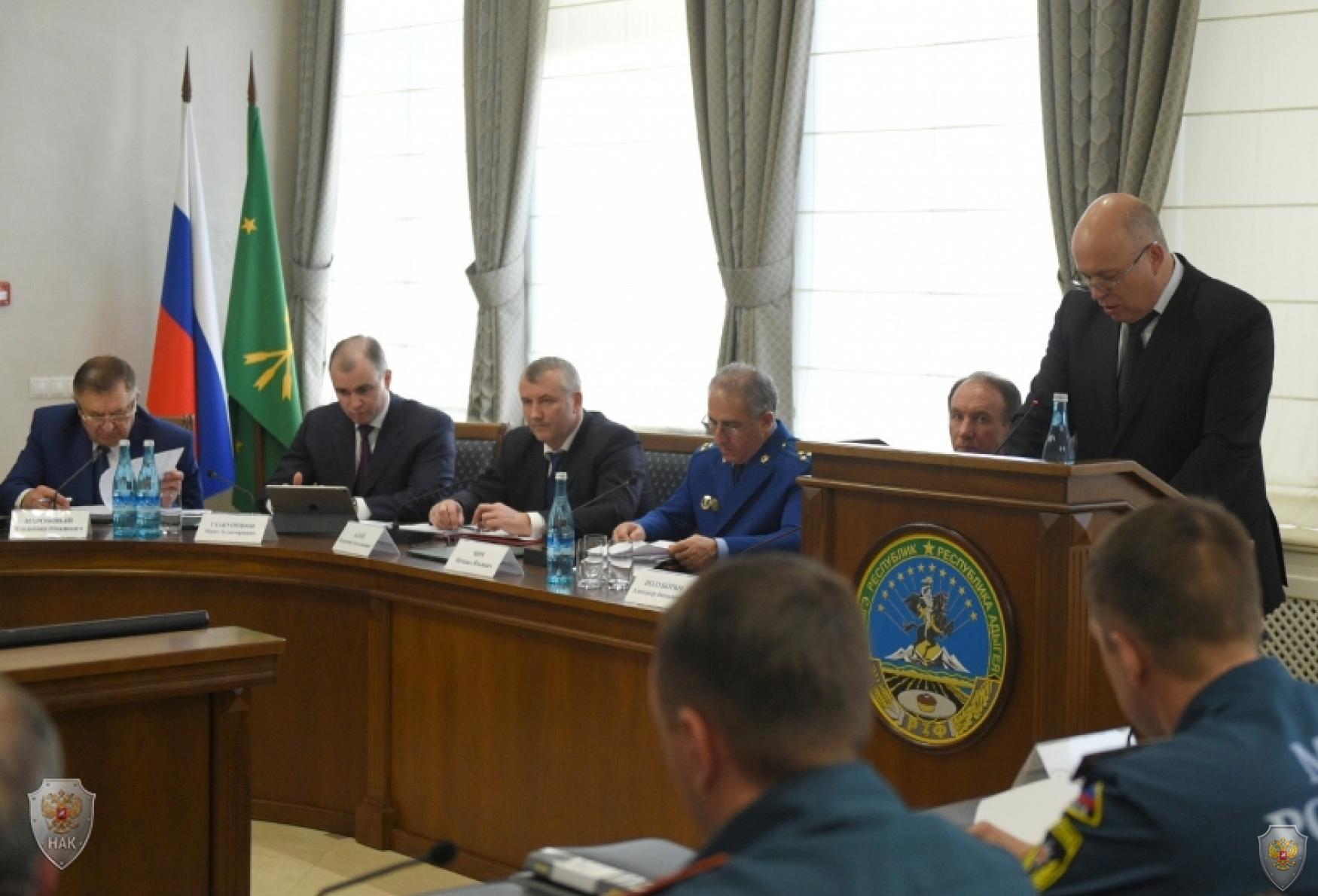 Выступление Начальника Управления ФСБ России по Республике Адыгея Виктора Владимировича Шаменкова