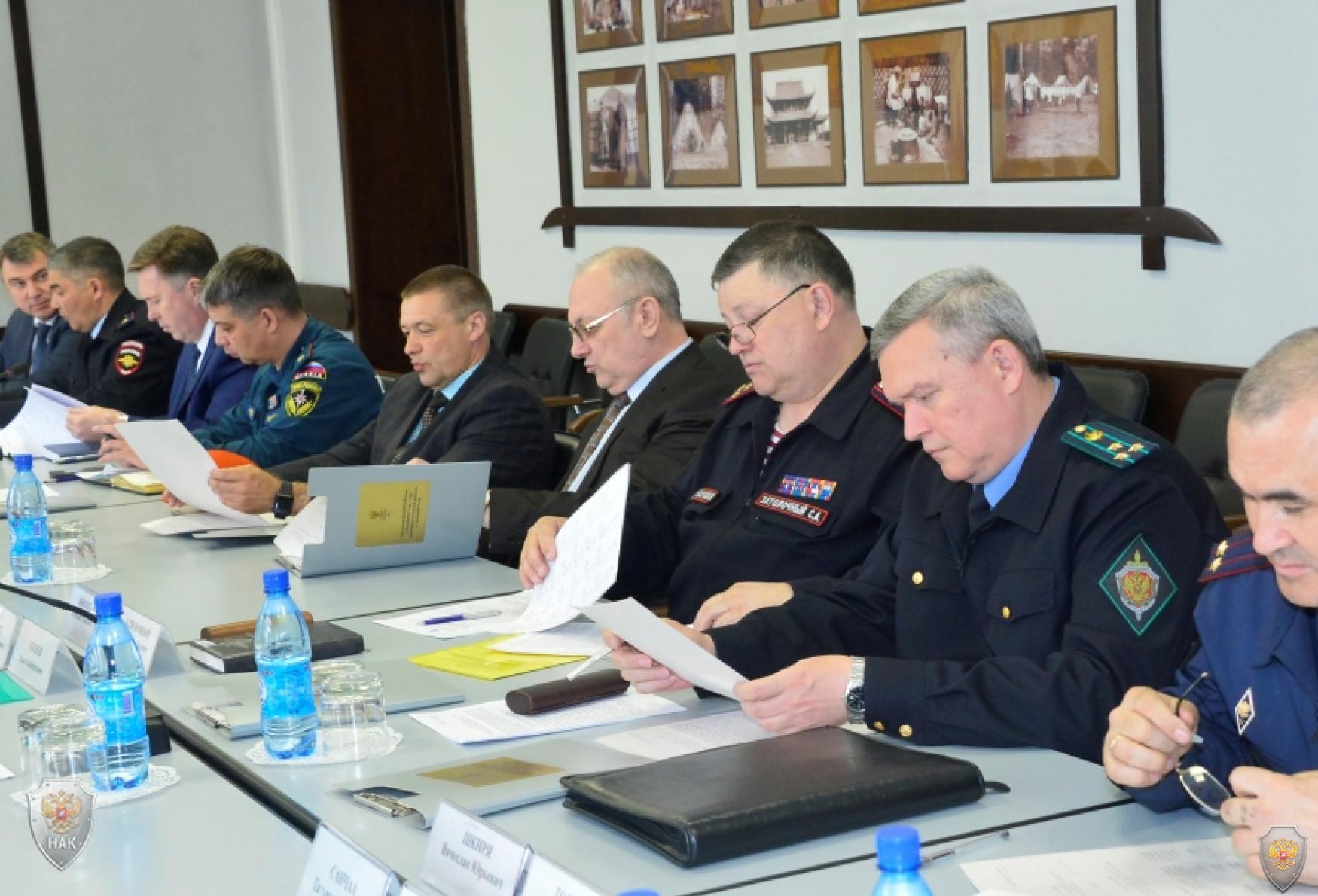 Совместное заседание антитеррористической комиссии и оперативного штаба в Республике Тыва